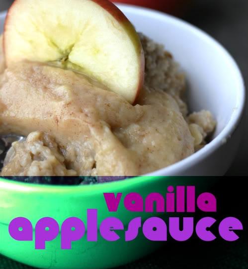 Vanilla Applesauce Oatmeal