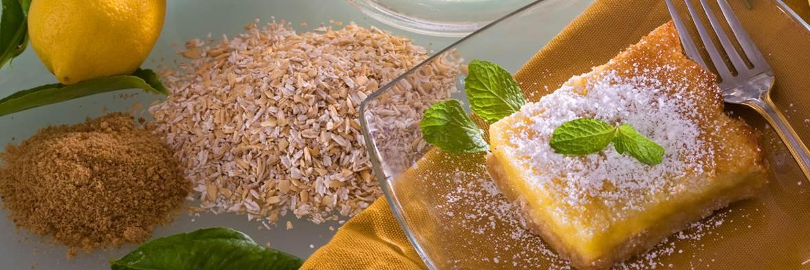 Oatmeal Lemon Squares