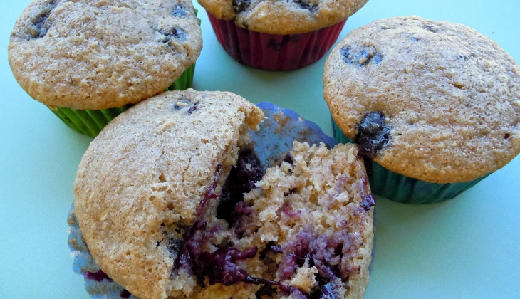 Wholegrain Blueberry Muffins