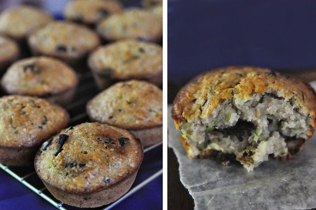 Zucchini Oat Chocolate Muffins
