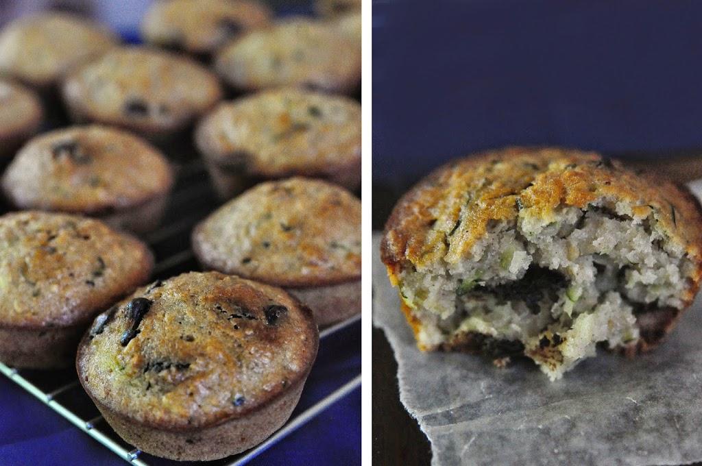 Zucchini Oatmeal Chocolate Chip Muffins