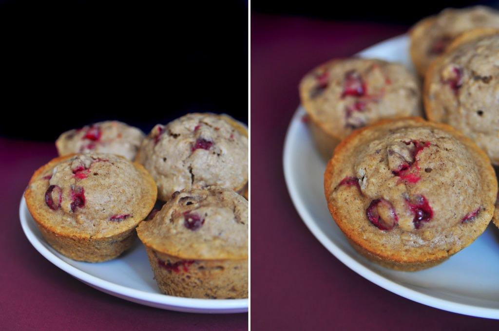 Cranberry Eggnog Muffin