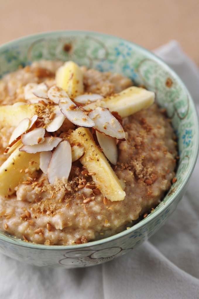 Almond Butter Banana Oatmeal