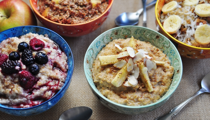 Four Oatmeal Bowls