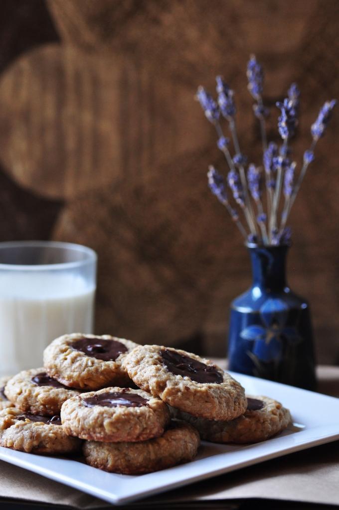 Fudge Thumbprint - oatmeal cookies