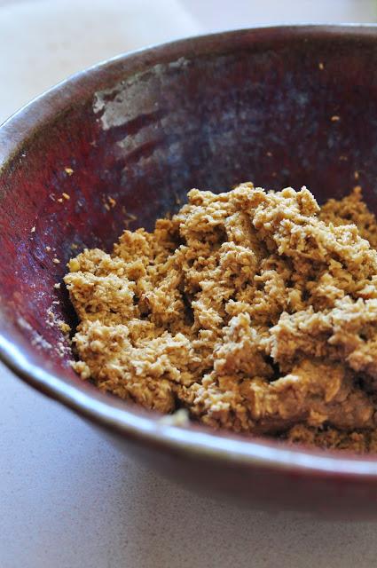Thumbprint Cookies dough - oatmeal cookeis