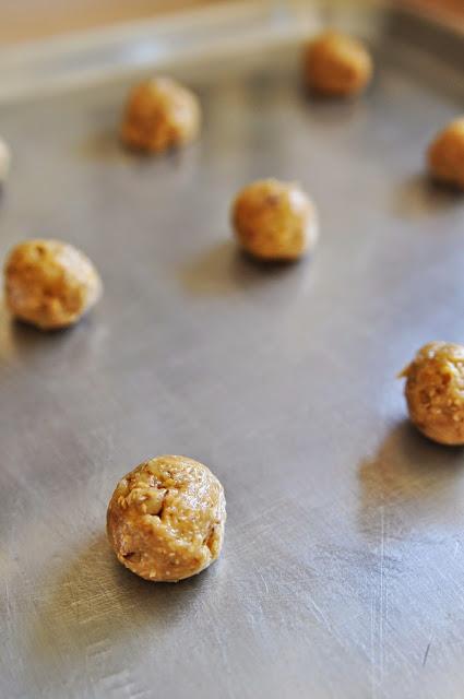 Thumbprint Cookies step 1 - oatmeal cookeis