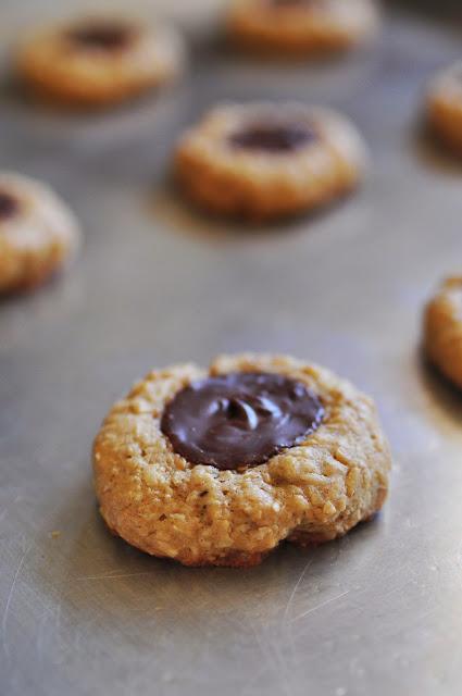 Thumbprint Cookies step 5 - oatmeal cookeis