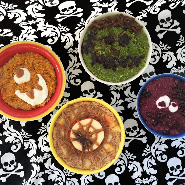 Halloween Oatmeal bowls