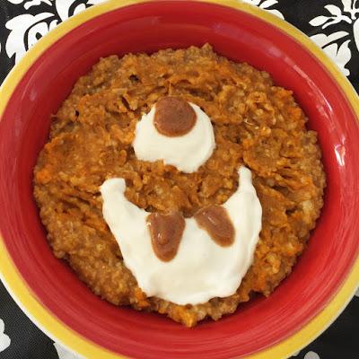Halloween breakfast - Pumpkin Oats