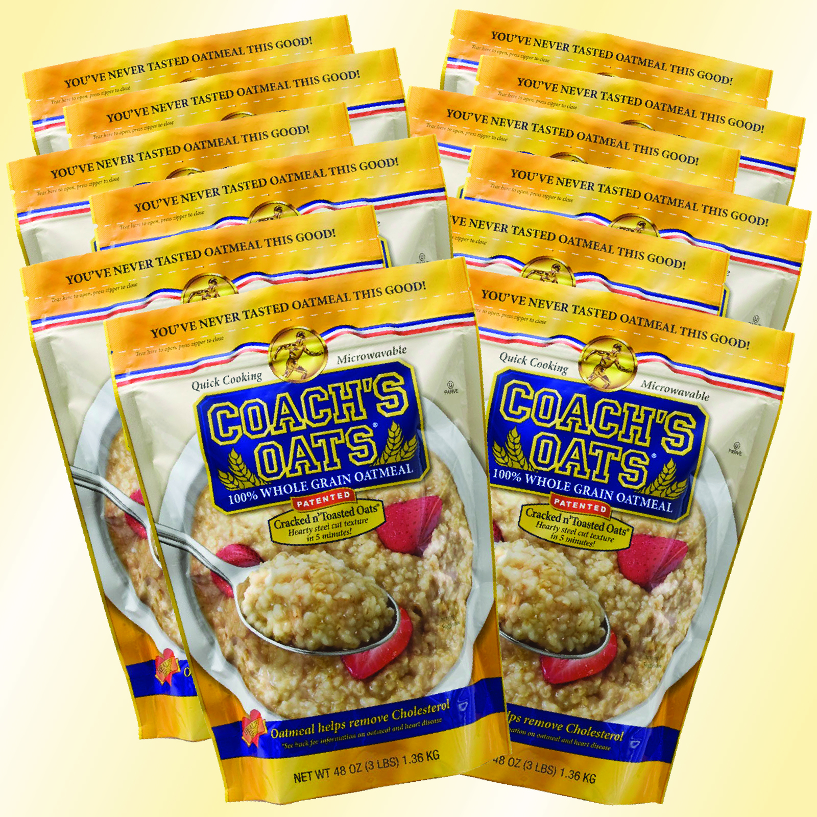 12 Bags of Coach's Oats