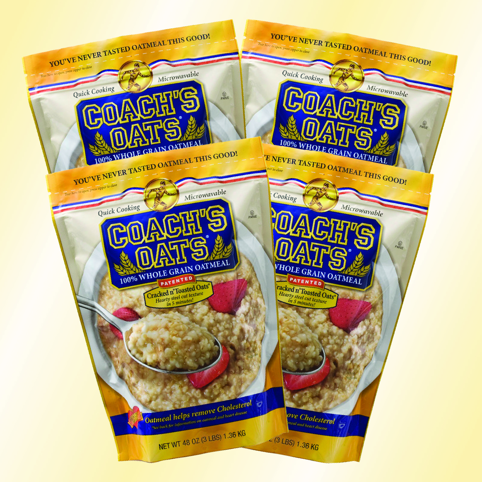 4 Bags of Coach's Oats