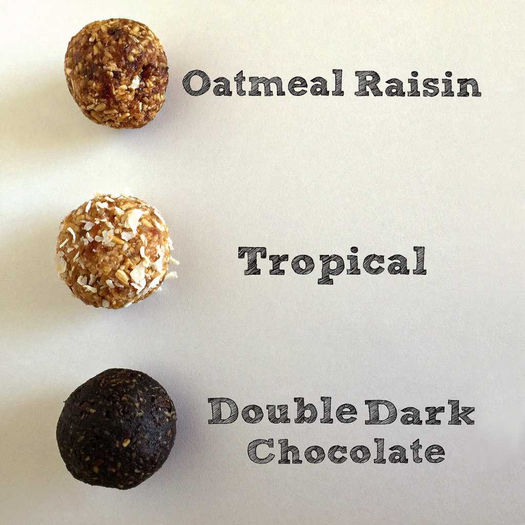 Three types oatmeal bites