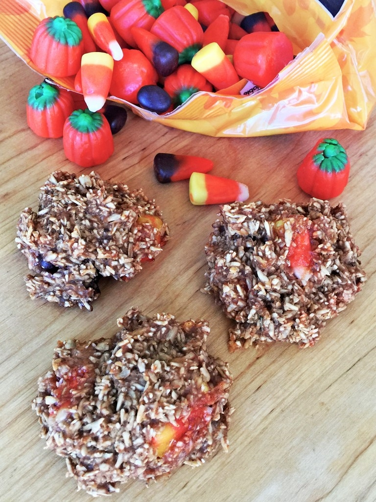 Candy Corn Baked Oatmeal Bites