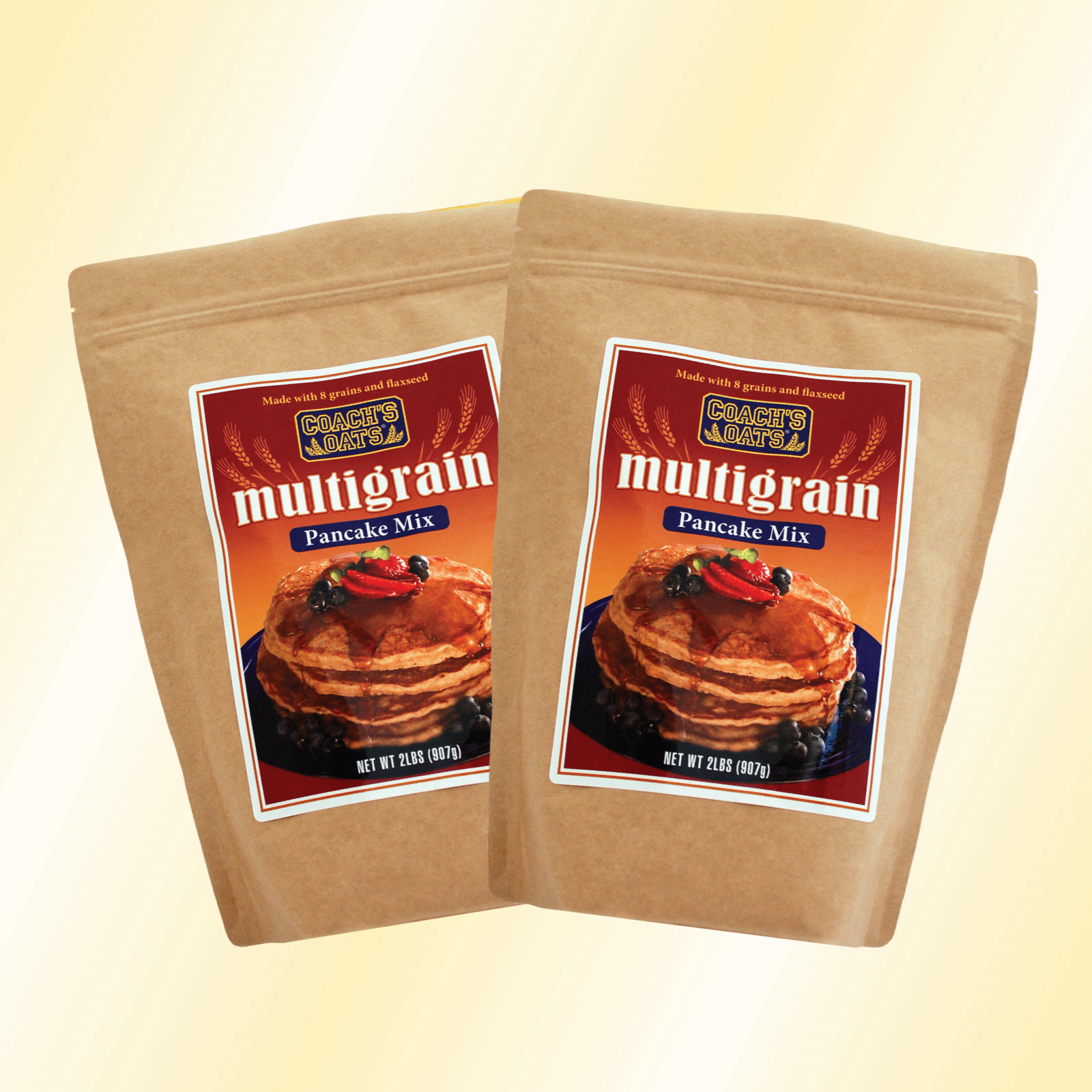Two, 32 oz. bags multigrain pancake mix