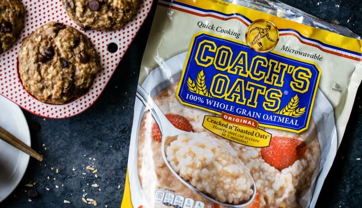 Coach's Power Flax Chocolate Chip Banana Oatmeal Muffins