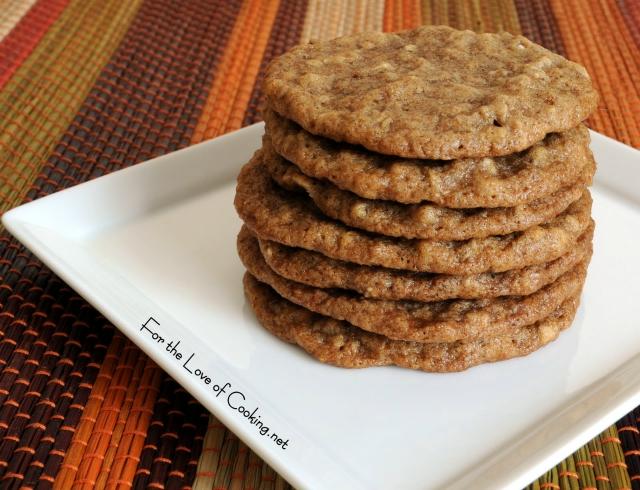 Cinnamon Oatmeal Crisps