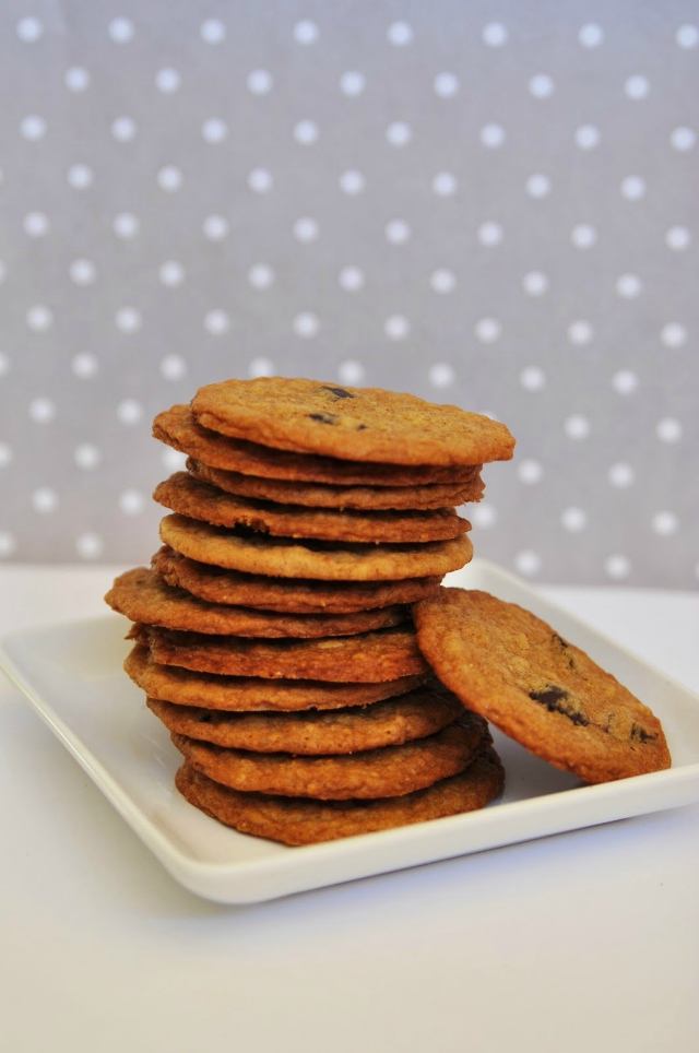 chocolate chunk flaxseed cookie
