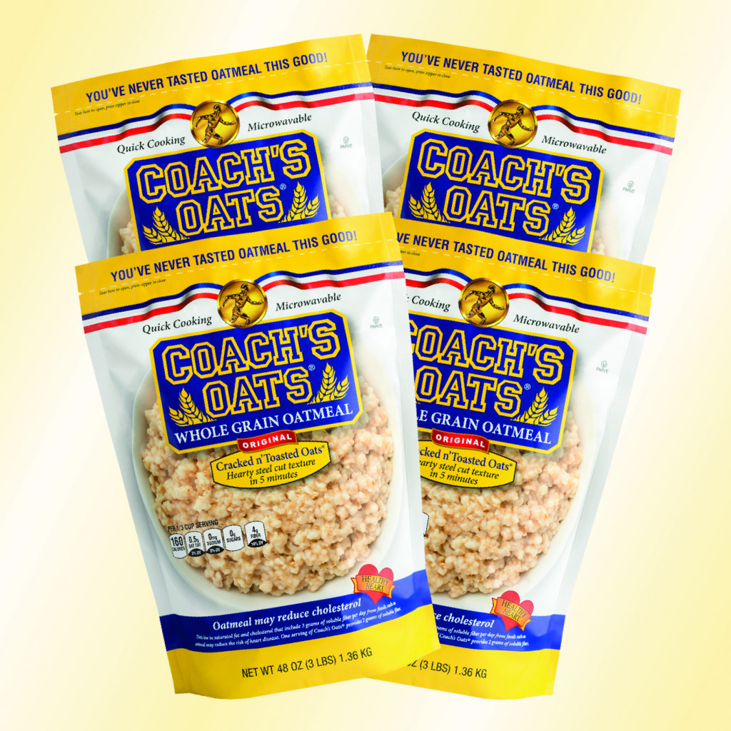 4 bags of delicious Coach's Oats - try some today!