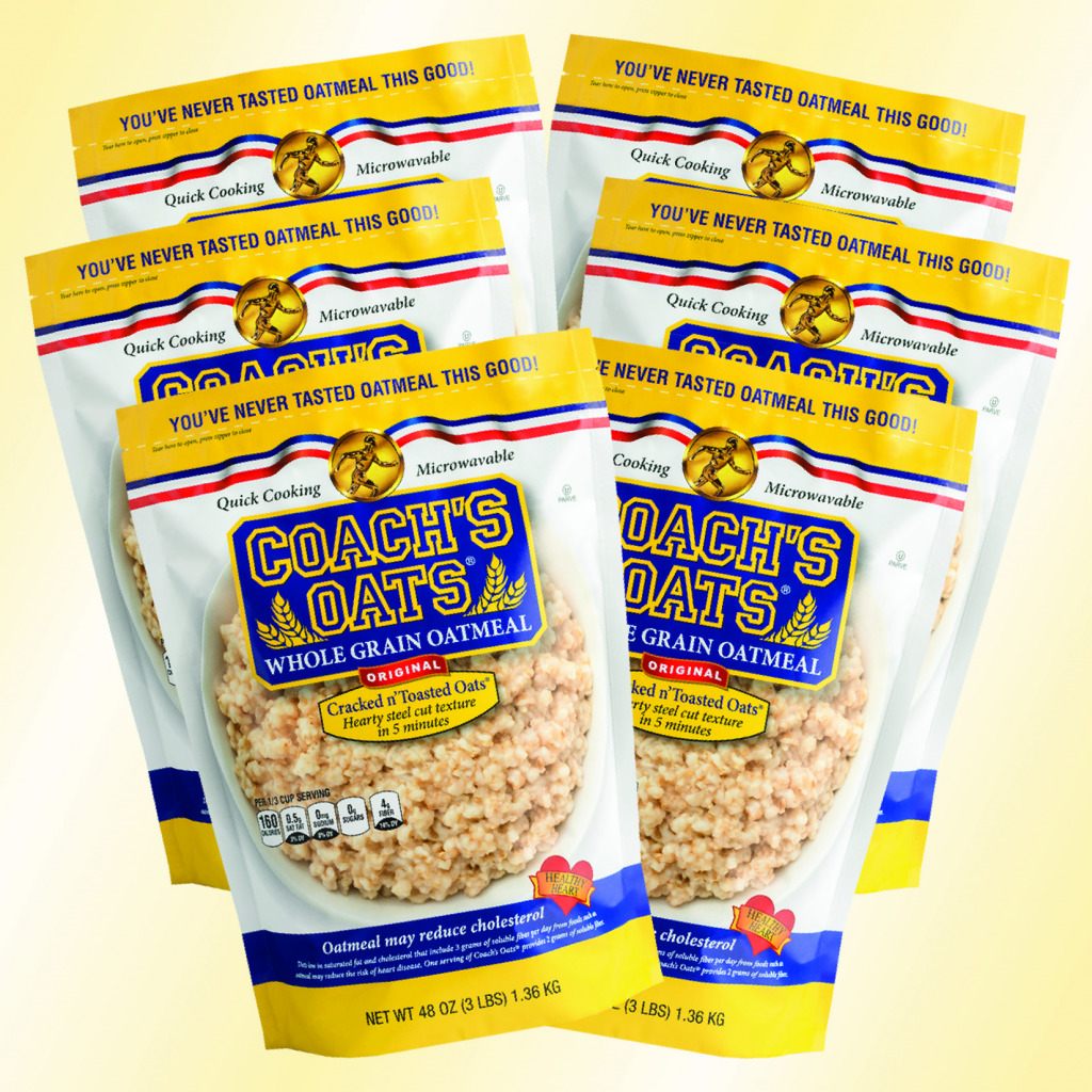 6 bags of delicious Coach's Oats - try some today!