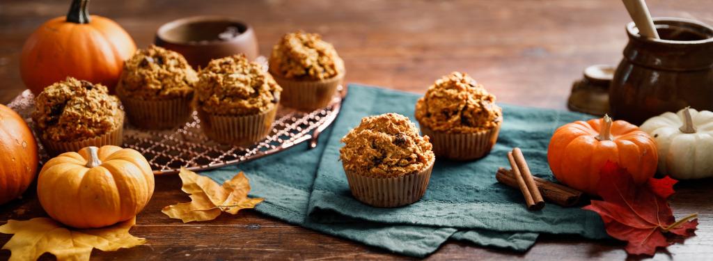 Pumpkin Oatmeal Chocolate Chip Muffins