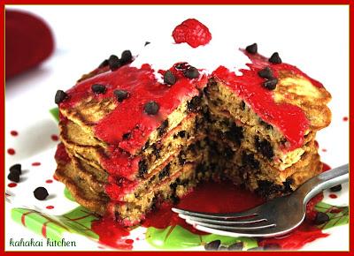 Christmas Oatmeal Pancakes